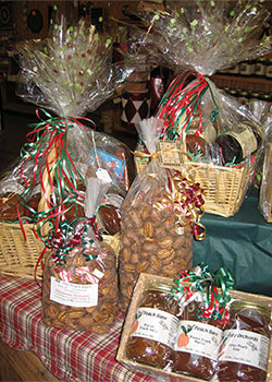 We sell fresh pecans in the shell, cracked, and pecan meats at The Peach Barn and Orchard, Porter, Oklahoma